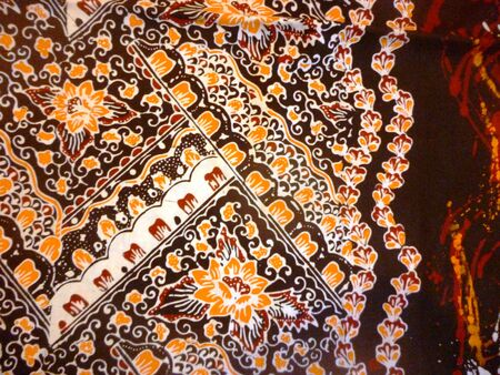 Javanese Batik Seamless  Pattern from kudus, central java, indonesia photo