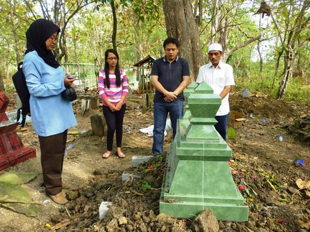 Muslim funeral cemetery in Indonesia, Asia