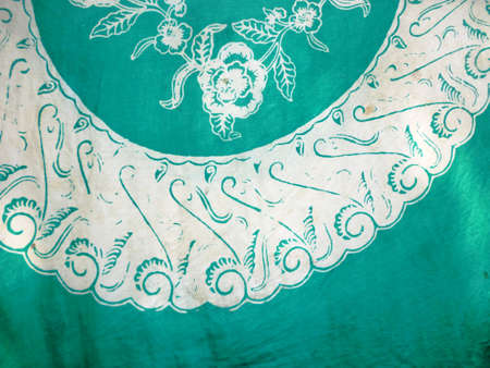 batik pattern: Batik fabric suitable for use as a background in design.