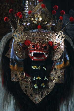 tame: Barong dance ~ a tame lion in bali, Indonesia