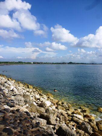 climate morning: Bali Sanur Beach at morning climate