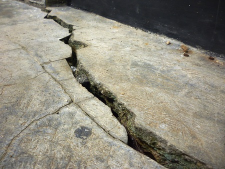cracked cement: cracked cement floor as background