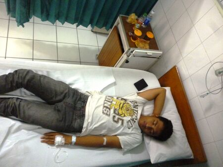 hospital patient: patient in hospital in semarang, Central Java, Indonesia