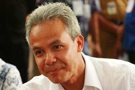 governor: Central java governor ganjar pranowo in Blora, central java, indonesia Editorial