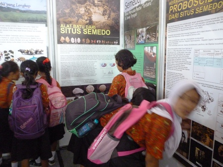 illustrious: children see education exhibition history of Antiquities in Blora central java Indonesia