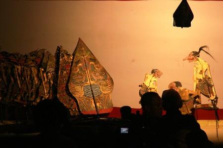 puppet show: Wayang Kulit Shadow Puppet Show at java Editorial
