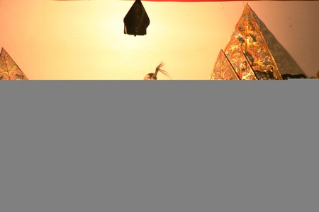 wayang: Wayang Kulit Shadow Puppet Show at java Editorial