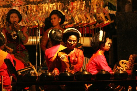 Wayang Kulit Shadow Puppet Show at java