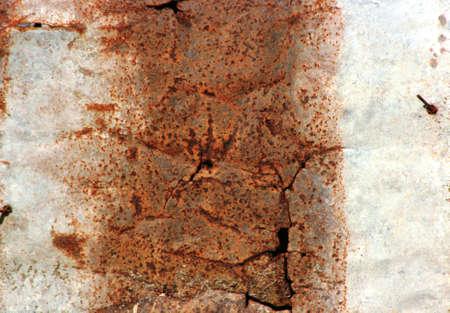 A rusty corrugated zinc metal texture