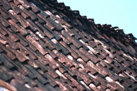 industry moody: red and black Tiled Roof