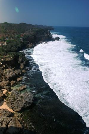 YOGYAKARTA: Ngobaran beach Yogyakarta Stock Photo