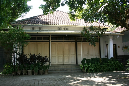 java: Old wooden houses in cirebon, west java, indonesia