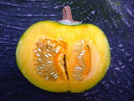 cucurbita: Sliced pumpkin Cucurbita Stock Photo