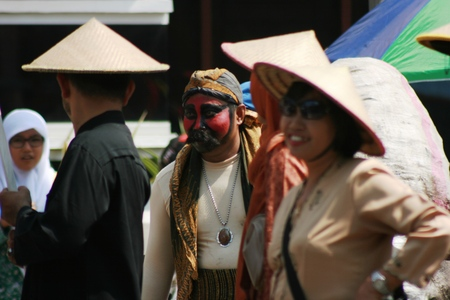 commemorating: festival in a ceremony commemorating the Indonesian Independence Day every August 17