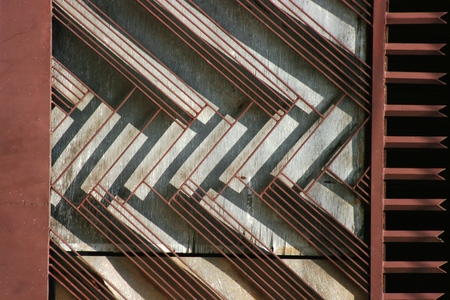 frost bound: metal decorative fence