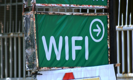 hotspot: WiFi hotspot sign Stock Photo