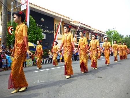 javanese: parade to celebrate javanese tradition and unity at blora, central java, Indonesia