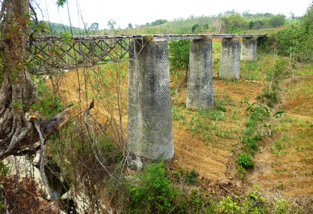 constructed: Old suspension bridge, constructed the old cast