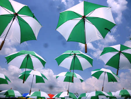 not give: sky umbrellas give a guarantee that the rain will not spoil the day