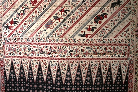 batik motif: batik hand stamp print with it its intricasy in the design motif batik is commonly worn in cirebon, lasem, and indramayu , indonesia, south east asian