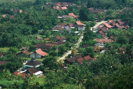 an agricultural district: beauty view from the hill