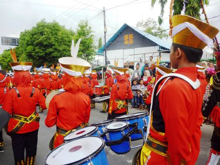 marching: moslem marching band Editorial