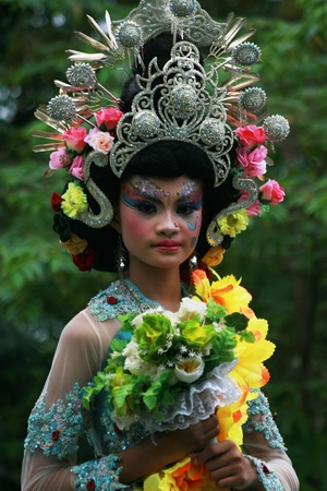 adult indonesia: Blora, Central Java, Indonesia. 25092016: Indonesian Culture carnival to commemorate the anniversary of Independence day