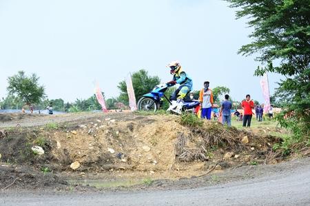 motorcross: grasstrack motocross race in Indonesia