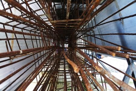 reinforcing: Steel bars for reinforcing concrete