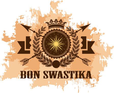 bon swastika (illustration) Stock Photo