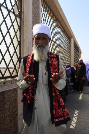 activities pilgrims and traditional markets in complex Jabal Uhud