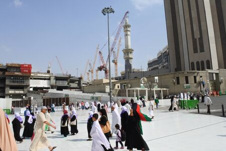 Muslim pilgrims in Kabah and around masjidil haram, Mecca, Saudi Arabia