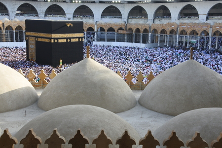 Ka'bah のムスリム巡礼者、メッカ、サウジアラビア