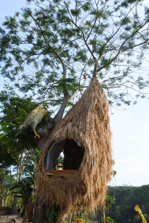 a birdhouse-shaped house