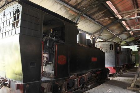 ancient train museum in Cepu, Central Java, Indonesia