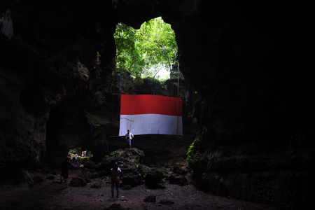 light in the cave (indoensian flag)