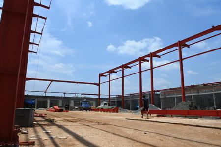 steel construction Banco de Imagens