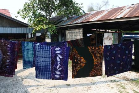 typical Banjarmasin sasirangan batik motif Banco de Imagens