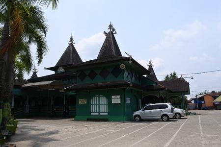 Sultan Suriansyah Mosque architecture in Banjarmasin, south kalimantan, indonesia Stock Photo