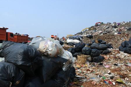 the biggest garbage dump in Indonesia, Bantar Gebang, Bekasi, Indonesia Editorial