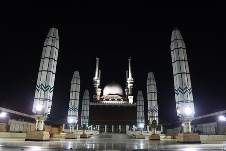 Masjid Agung Jawa Tengah , This mosque is located in Semarang Regency and is the largest mosque in Central Java