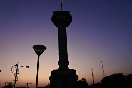 agung mosque as new landmarks located in semarang city, central java, indonesia