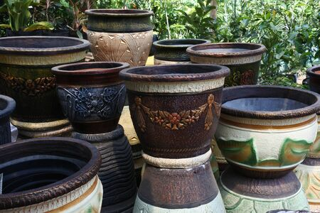 large pots for flowers and plants 写真素材
