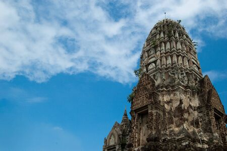 The towering prang of Wat Rat Burana in Ayutthaya is distinctive for its Khmer-style architecture, similar to that of Angkor