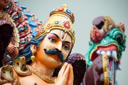 mariamman: Detail of Hindu sculpture at Sri Mariamman Temple, Singapore