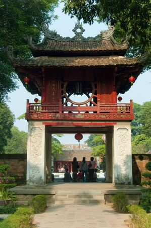 The entrance to the Temple of Literature in Hanoi, Vietnams oldest university.