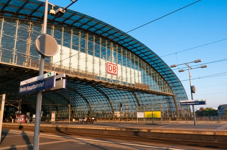 Berlin, Germany, 10 October 2010. Opened in 2006, the Berlin Hauptbahnhof or main train station is the largest passenger crossing in Europe. Editorial
