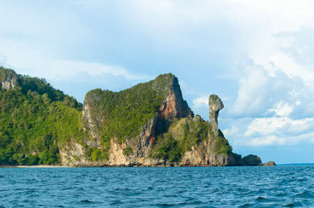This limestone formation that looks like a chickens head is a landmark for many boatmen sailing the Andaman Sea.