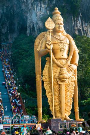 20 January 2011, Kuala Lumpur, Malaysia: Over a million people gather at the Batu Caves for the annual Thaipusam festival to celebrate the Hindu deity Murugan.