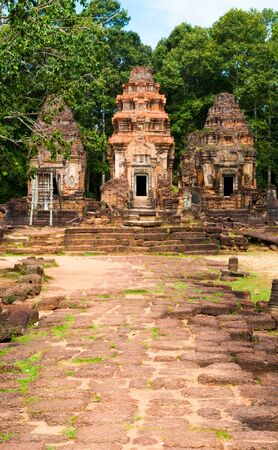 Angkor boast many smaller temples, such as Preah Ko, one of the earliest temples build in the region. photo